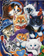 Tableau De Famille De Petits Chats - 5D Kit Broderie Diamants/Diamond Painting VM7468