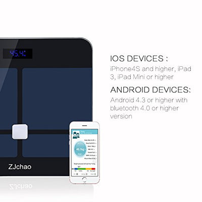 ZJchao Smart Fitness Weight Scale