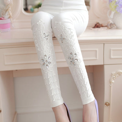 Women's Leggings Sexy Casual Laces  Leg Warme