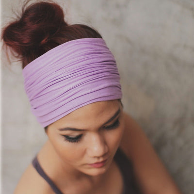 Solid Wide Patchwork Cotton Sports Headband
