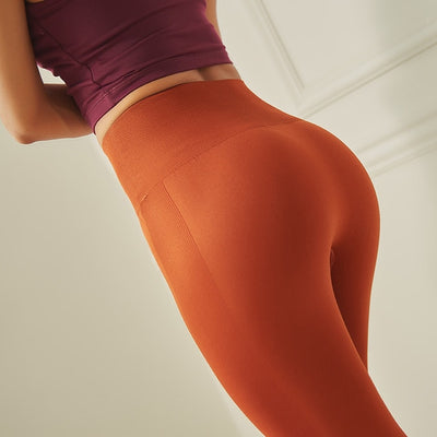Seamless High Waist Pink Yoga Pants