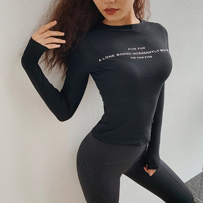 Long Sleeve Tight Garment Elastic Quick Drying T-shirt