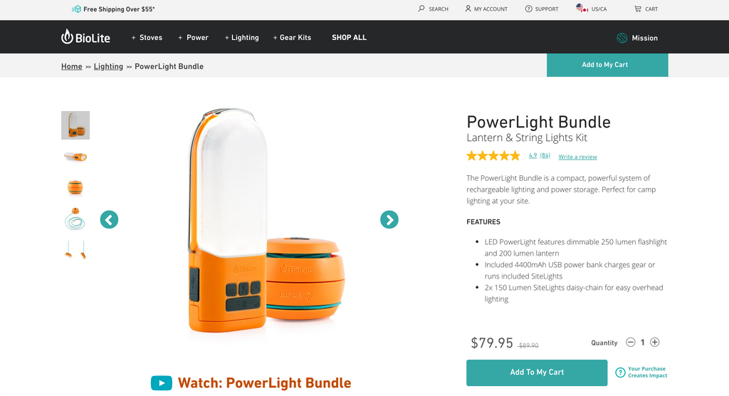 Screenshot of BIolite product bundle