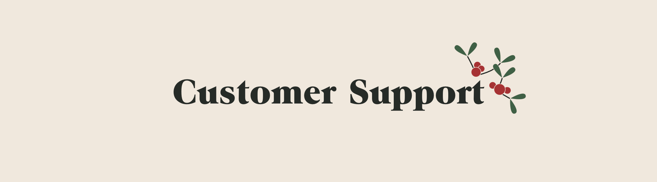 Customer Support title with mistletoe icon