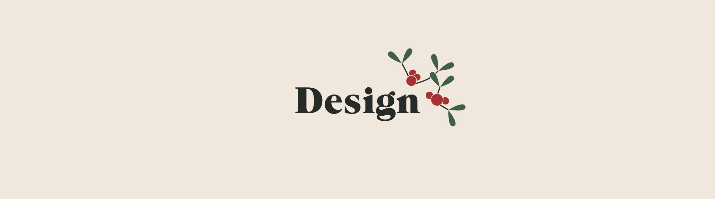 Design title with mistletoe icon