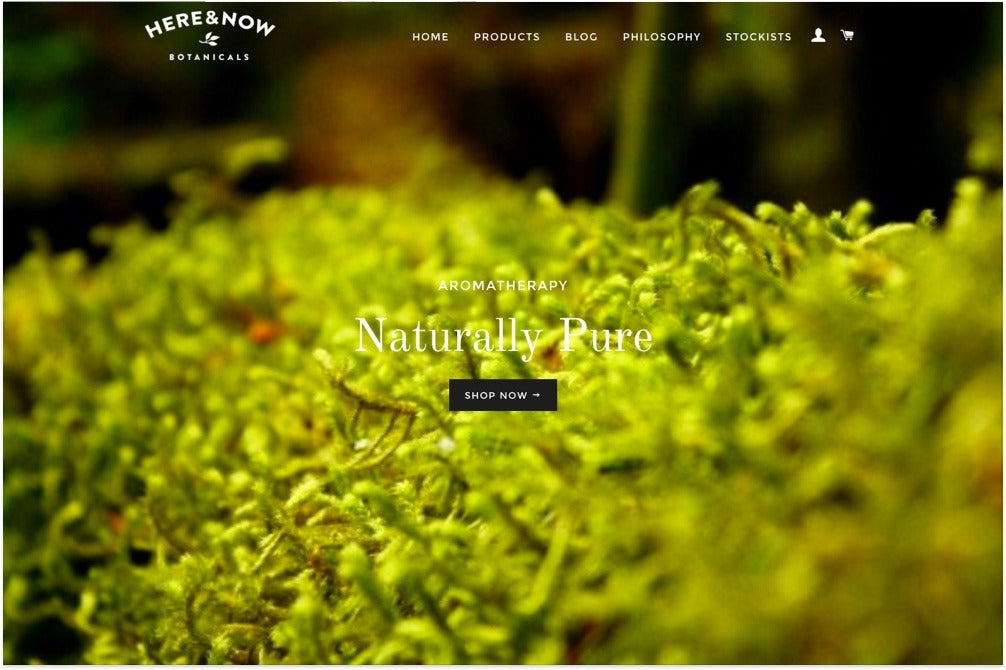 Here & Now Botanical's online store