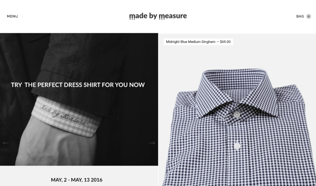 Made to Measure - Lookbook Standard