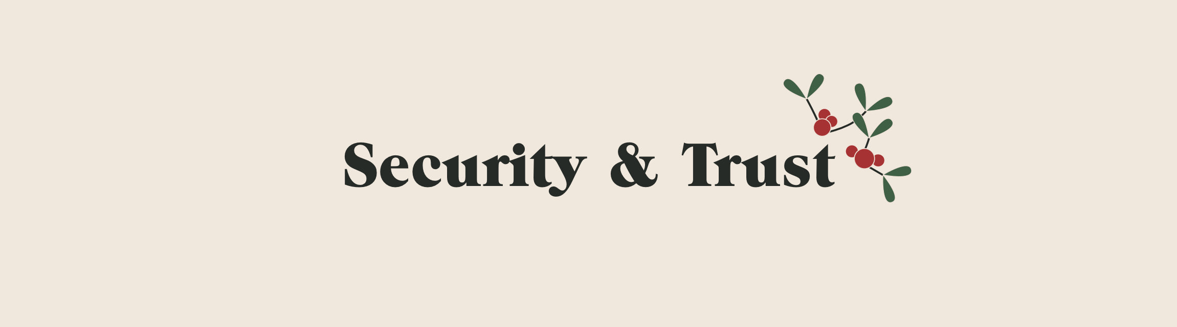 Security & Trust title with mistletoe icon