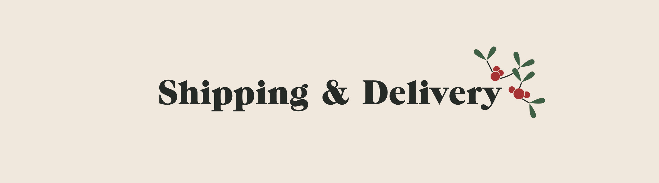 Shipping & Delivery title with mistletoe icon