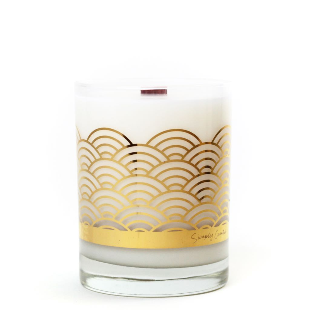 Simply Curated's bergamot and grapefruit candle