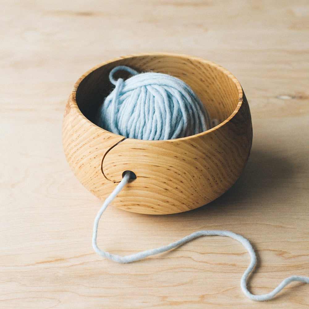 Twig & Horn's wooden yarn bowl