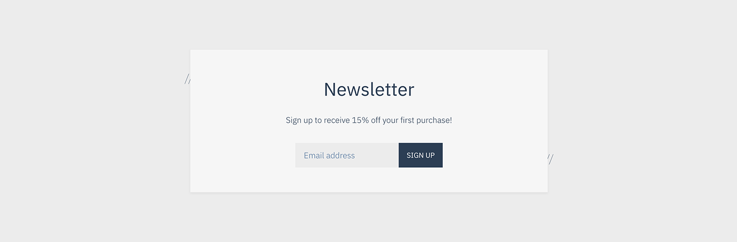 Reach Shopify theme newsletter section