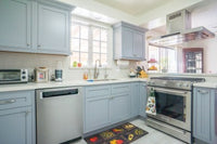 Light Gray Inset Shaker Kitchen Cabinets