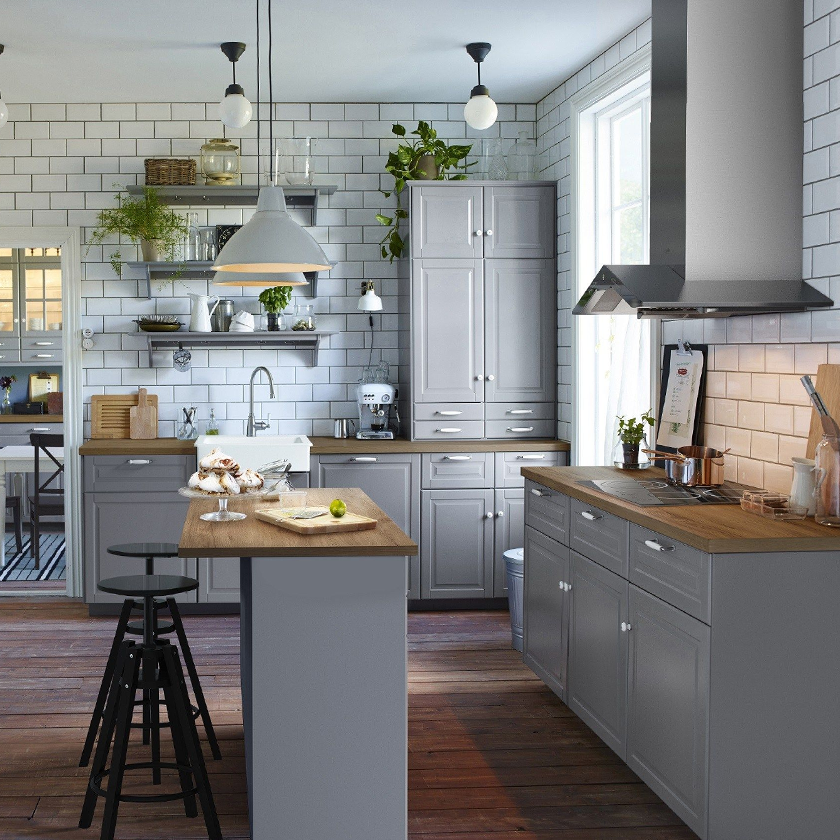Light Grey, Light Gray Inset Kitchen Cabinets