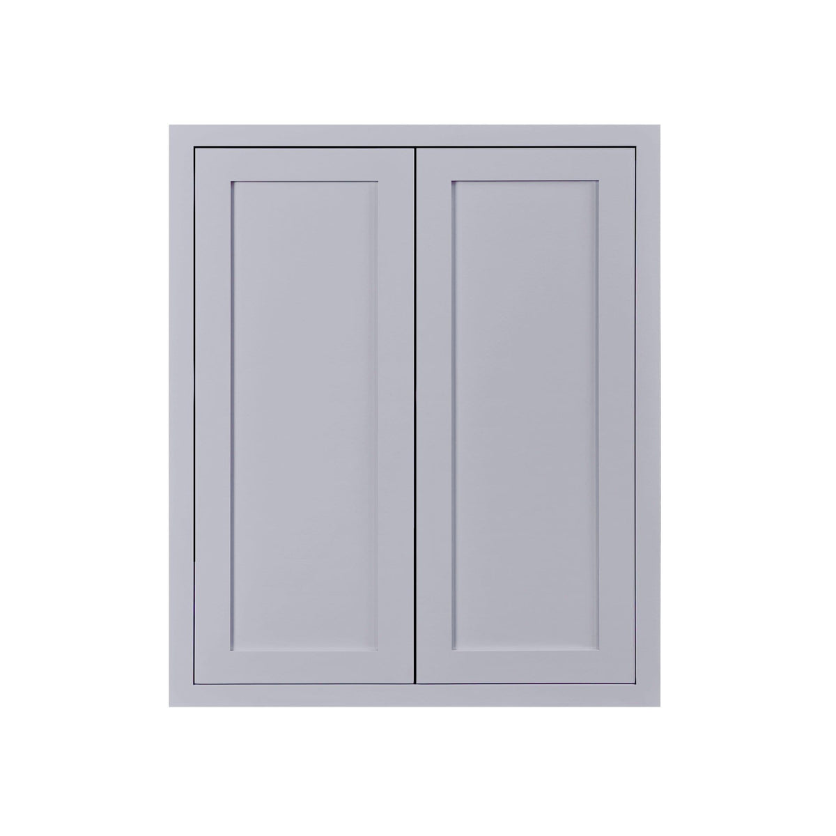 "30"" Tall Wall Cabinet 30"" Tall Light Gray Inset Shaker Wall Cabinet - Double Door - 24"", 27"", 30"", 33"" & 36"" D2W273014 Inset Kitchen Cabinets"