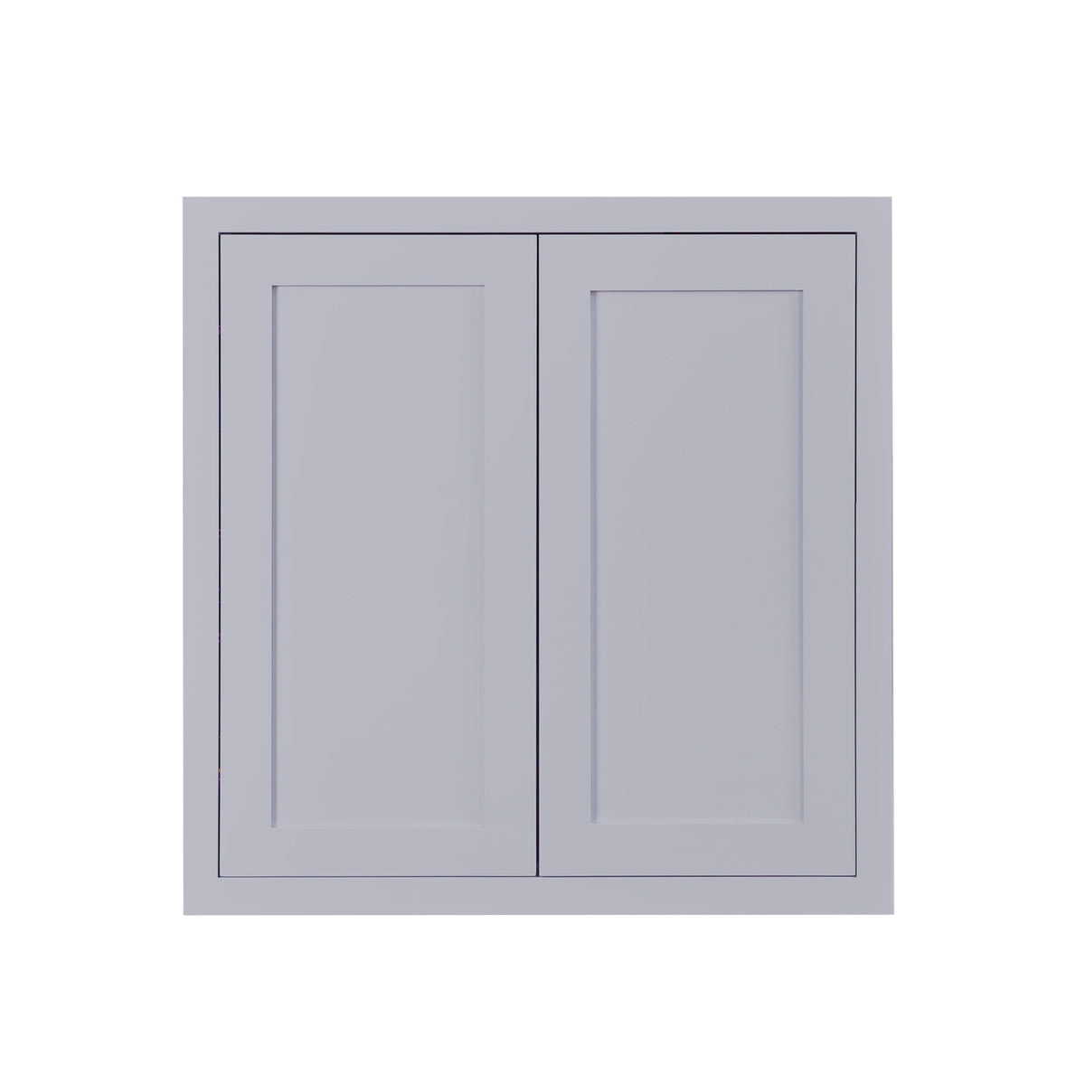 "30"" Tall Wall Cabinet 30"" Tall Light Gray Inset Shaker Wall Cabinet - Double Door - 24"", 27"", 30"", 33"" & 36"" D2W303014 Inset Kitchen Cabinets"