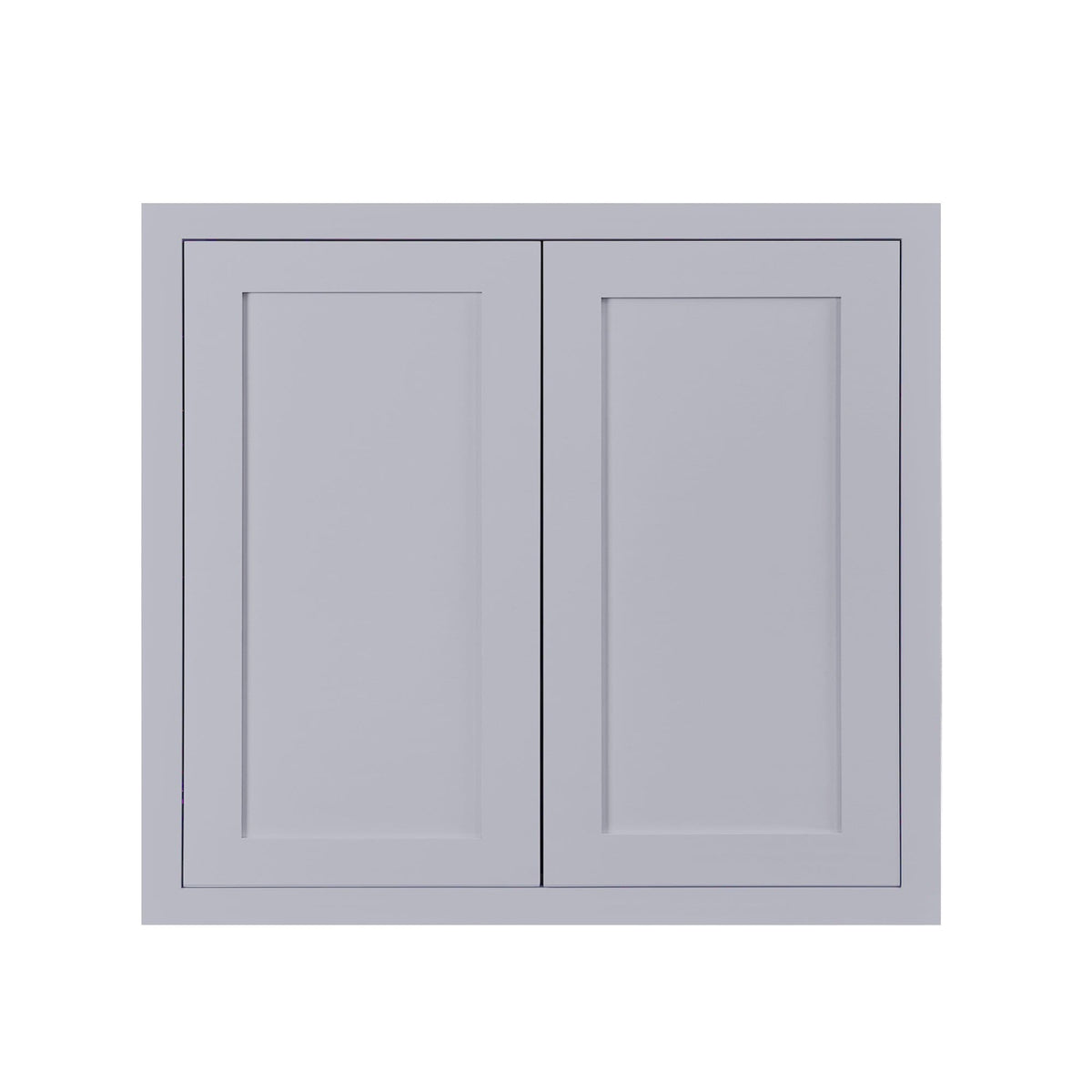 "30"" Tall Wall Cabinet 30"" Tall Light Gray Inset Shaker Wall Cabinet - Double Door - 24"", 27"", 30"", 33"" & 36"" D2W333014 Inset Kitchen Cabinets"