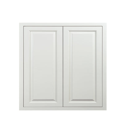 "30"" Tall Wall Cabinet 30"" Tall Vintage White Inset Raised Panel Wall Cabinet - Double Door 24"", 27"", 30"", 33""& 36"" D5W303014 Inset Kitchen Cabinets"