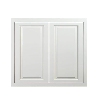 "30"" Tall Wall Cabinet 30"" Tall Vintage White Inset Raised Panel Wall Cabinet - Double Door 24"", 27"", 30"", 33""& 36"" D5W3330 Inset Kitchen Cabinets"