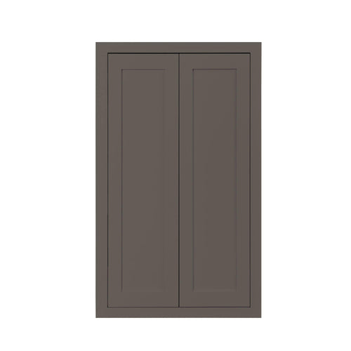 "39"" Tall Wall Cabinet 39"" Tall Dark Gray Inset Shaker Wall Cabinet - Double Door 24"", 27"", 30"", 33"" & 36"" Wide Inset Kitchen Cabinets"