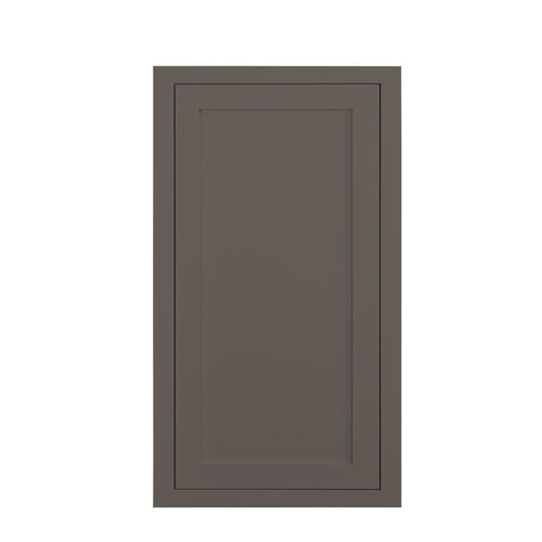 "39"" Tall Wall Cabinet 39"" Tall Dark Gray Inset Shaker Wall Cabinet - Single Door 9"", 12"", 15"", 18"" & 21"" Wide Inset Kitchen Cabinets"