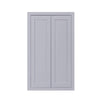 "39"" Tall Wall Cabinet 39"" Tall Light Gray Inset Shaker Wall Cabinet - Double Door -  24"", 27"", 30"", 33"" & 36"" D2W243914 Inset Kitchen Cabinets"
