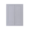 "39"" Tall Wall Cabinet 39"" Tall Light Gray Inset Shaker Wall Cabinet - Double Door -  24"", 27"", 30"", 33"" & 36"" D2W303914 Inset Kitchen Cabinets"