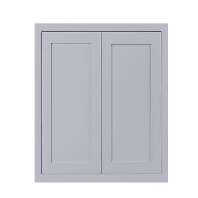 "39"" Tall Wall Cabinet 39"" Tall Light Gray Inset Shaker Wall Cabinet - Double Door -  24"", 27"", 30"", 33"" & 36"" Inset Kitchen Cabinets"