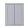 "39"" Tall Wall Cabinet 39"" Tall Light Gray Inset Shaker Wall Cabinet - Double Door -  24"", 27"", 30"", 33"" & 36"" D2W333914 Inset Kitchen Cabinets"