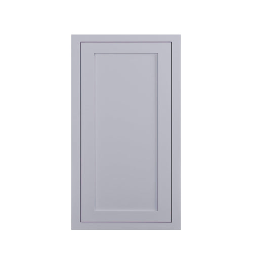 "39"" Tall Wall Cabinet 39"" Tall Light Gray Inset Shaker Wall Cabinet - Single Door - 9"", 12"", 15"", 18"" & 21"" Wide Inset Kitchen Cabinets"