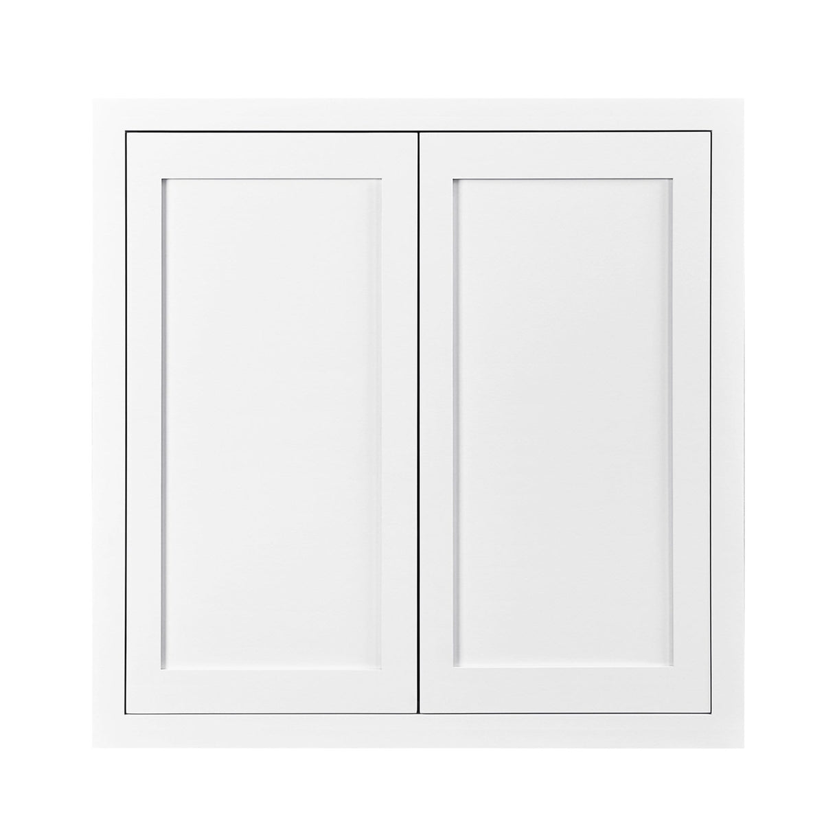 "39"" Tall Wall Cabinet 39"" Tall Snow White Inset Shaker Wall Cabinet - Double Door 24"", 27"", 30"", 33"" & 36"" Wide D1W303914 Inset Kitchen Cabinets"