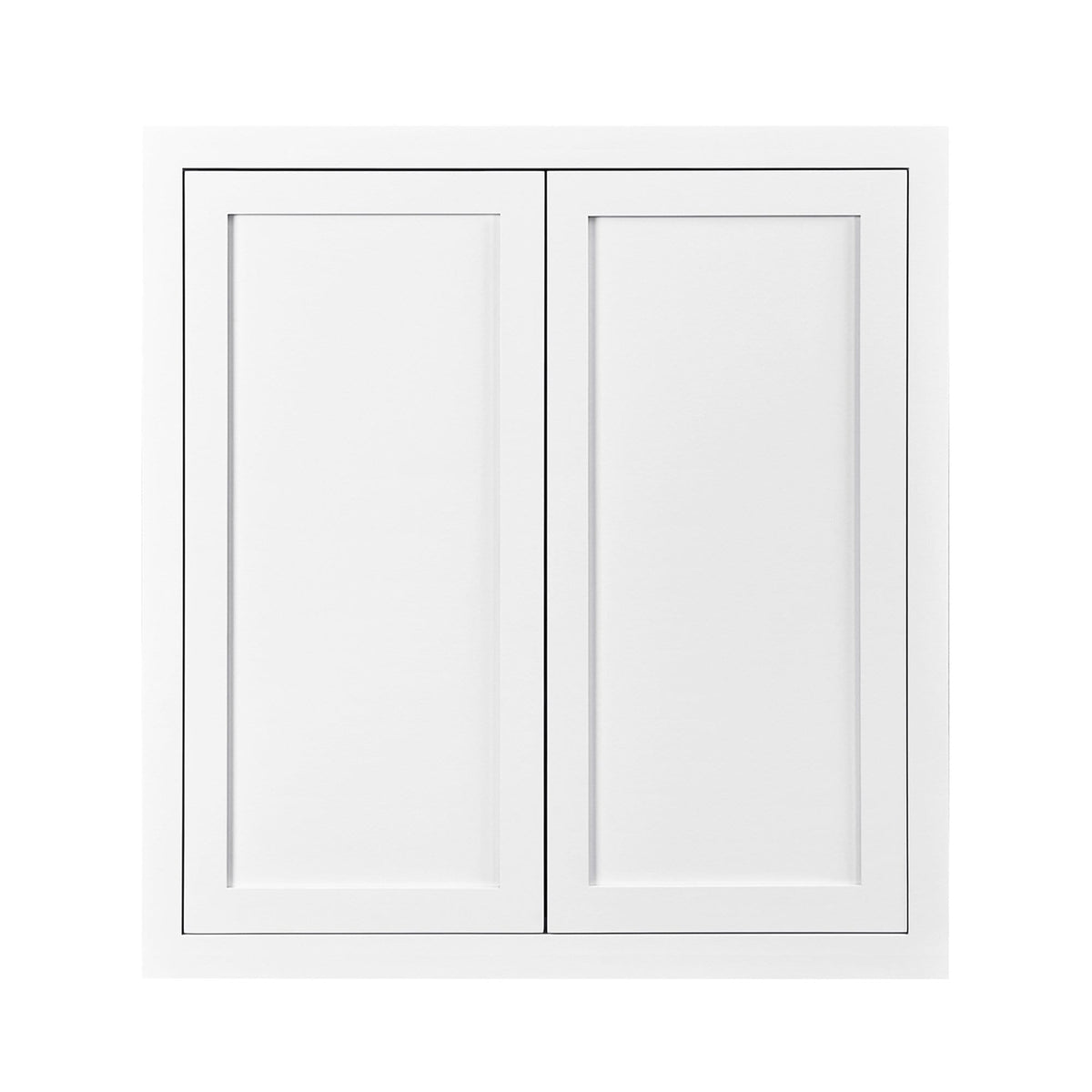 "39"" Tall Wall Cabinet 39"" Tall Snow White Inset Shaker Wall Cabinet - Double Door 24"", 27"", 30"", 33"" & 36"" Wide D1W363914 Inset Kitchen Cabinets"