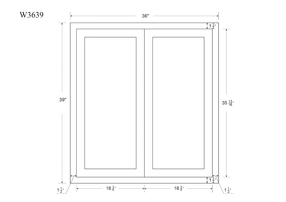 "39"" Tall Wall Cabinet 39"" Tall Snow White Inset Shaker Wall Cabinet - Double Door 24"", 27"", 30"", 33"" & 36"" Wide Inset Kitchen Cabinets"