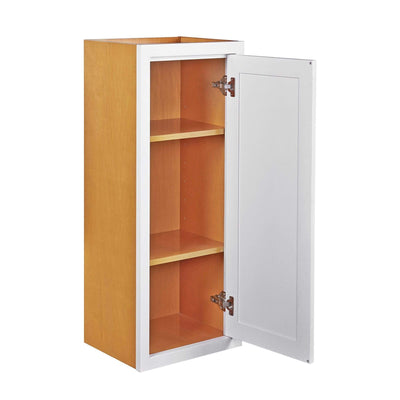 "39"" Tall Wall Cabinet 39"" Tall Snow White Inset Shaker Wall Cabinet - Single Door 12"", 15"", 18"" & 21"" Inset Kitchen Cabinets"
