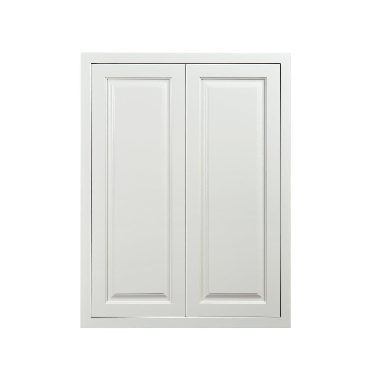 39 Tall Vintage White Inset Raised Panel Wall Cabinet Double Door 24 27 30 33 36 Rta Wholesalers