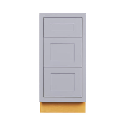 "Light Gray Shaker Inset Drawer Base Cabinet - 12"", 15"", 18"", 21"", 24"" & 27"""