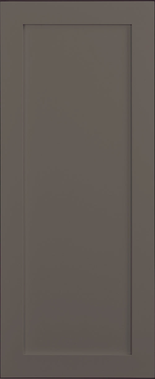 False Door Panel Dark Gray Inset Shaker Decorative Style