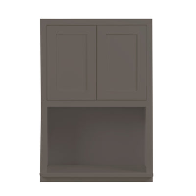 "Microwave Cabinet Dark Gray Shaker Wall Cabinet 27"" Wide 30"" & 39"" Tall"