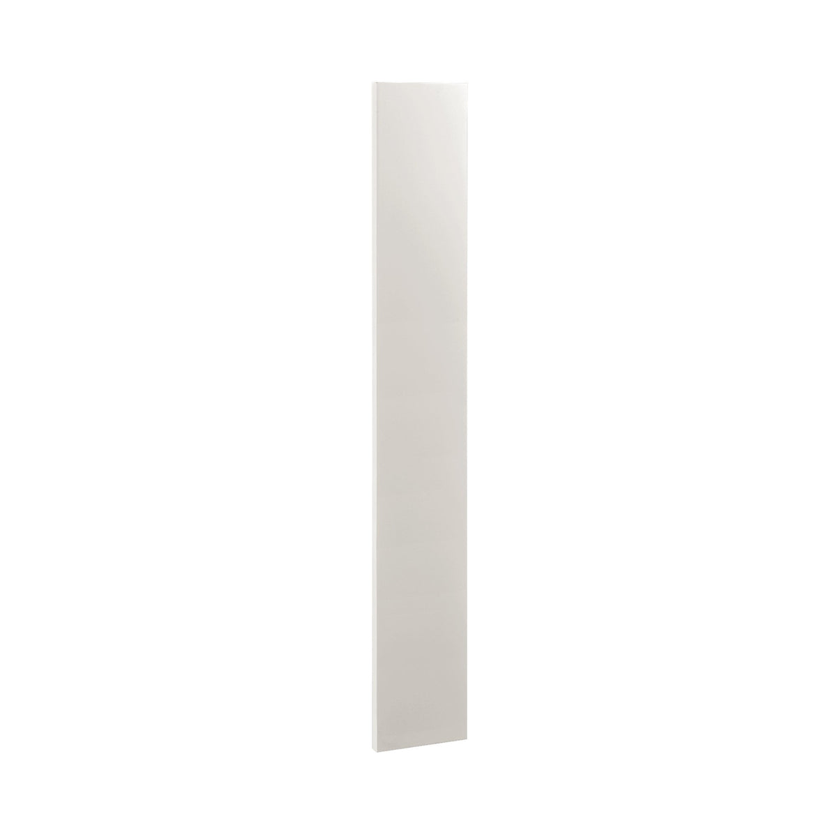 "Accessories Snow White Shaker Inset Wall Cabinet Filler Trim Pieces - 3"" W x 30"", 39"" & 96"" D1WF330 Inset Kitchen Cabinets"