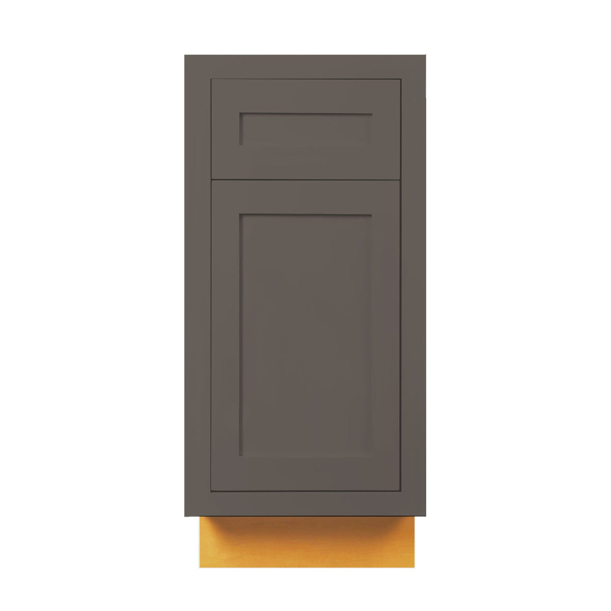 "Base Cabinet Dark Gray Inset Shaker Base Cabinet - Single Door 9"", 12"", 15"", 18"" & 21"" D3B15 Inset Kitchen Cabinets"