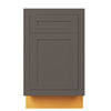 "Base Cabinet Dark Gray Inset Shaker Base Cabinet - Single Door 9"", 12"", 15"", 18"" & 21"" Inset Kitchen Cabinets"