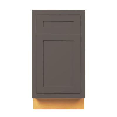 "Base Cabinet Dark Gray Inset Shaker Base Cabinet - Single Door 9"", 12"", 15"", 18"" & 21"" D3B18 Inset Kitchen Cabinets"