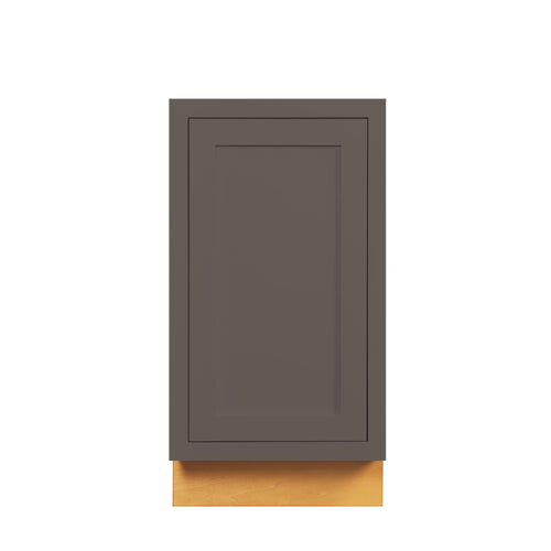 "Base Cabinet Dark Gray Inset Shaker Trash Can Pull Out Base Cabinet 18"" D3BP18 Inset Kitchen Cabinets"
