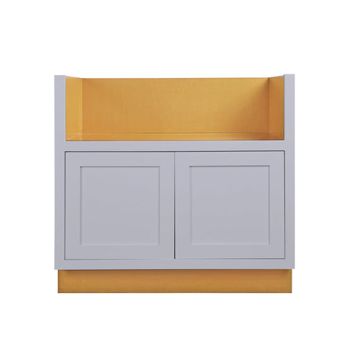 "Base Cabinet Farm Sink Base Light Gray Inset Shaker Cabinets 33"" or 36"" Inset Kitchen Cabinets"