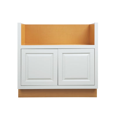 "Base Cabinet Farm Sink Base Vintage White Inset Raised Panel Cabinets 33"" or 36"" D5FSB33 Inset Kitchen Cabinets"
