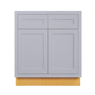 "Base Cabinet Light Gray Inset Shaker Base Cabinet - Double Door 30""-36"" Wide Inset Kitchen Cabinets"