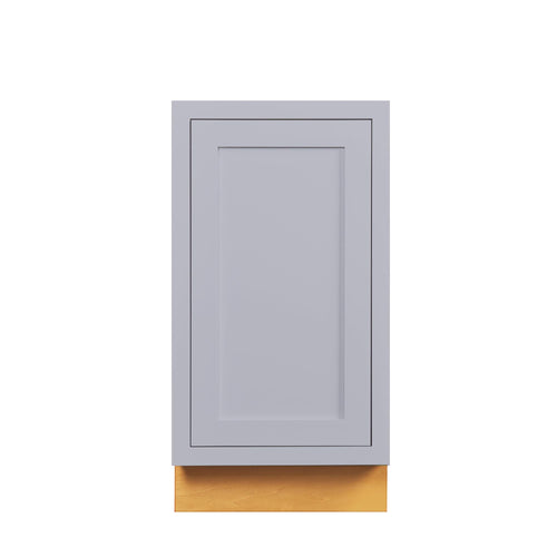 "Base Cabinet Light Gray Inset Shaker Trash Can Pull Out Base Cabinet 18"" D2BP18 Inset Kitchen Cabinets"