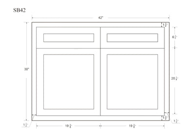 "Base Cabinet Sink Base Light Gray Inset Shaker Cabinets 33"", 36"" & 42"" Inset Kitchen Cabinets"