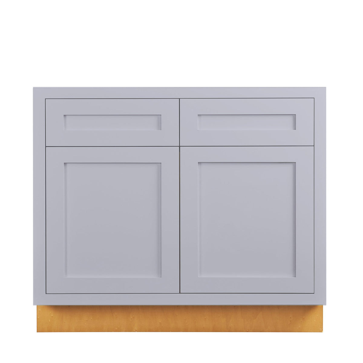 "Base Cabinet Sink Base Light Gray Inset Shaker Cabinets 33"", 36"" D2SB33 Inset Kitchen Cabinets"