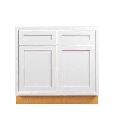 "Base Cabinet Sink Base Snow White Inset Shaker Cabinets 33"", 36"", 42"" D1SB33 Inset Kitchen Cabinets"